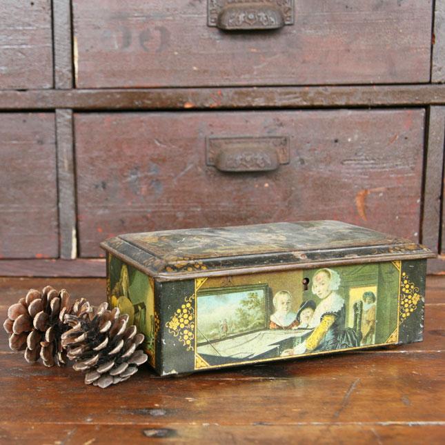 【送料無料】【アメリカンアンティーク】old steel case-古い箱-【中古】