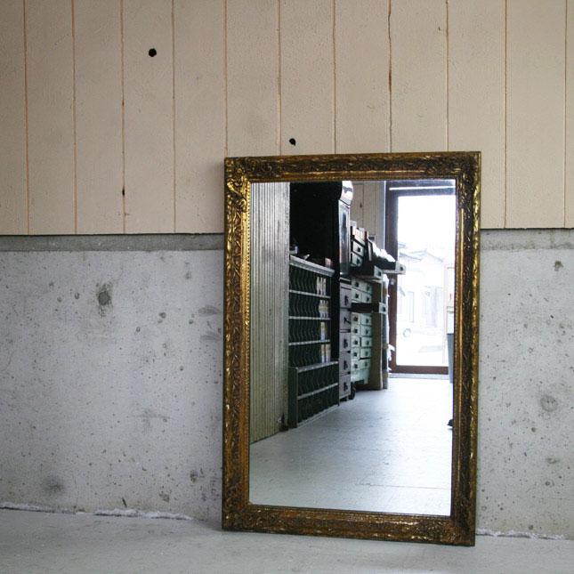 【アメリカンアンティーク】antique deco mirror 古い鏡 【中古】家財便 送料別