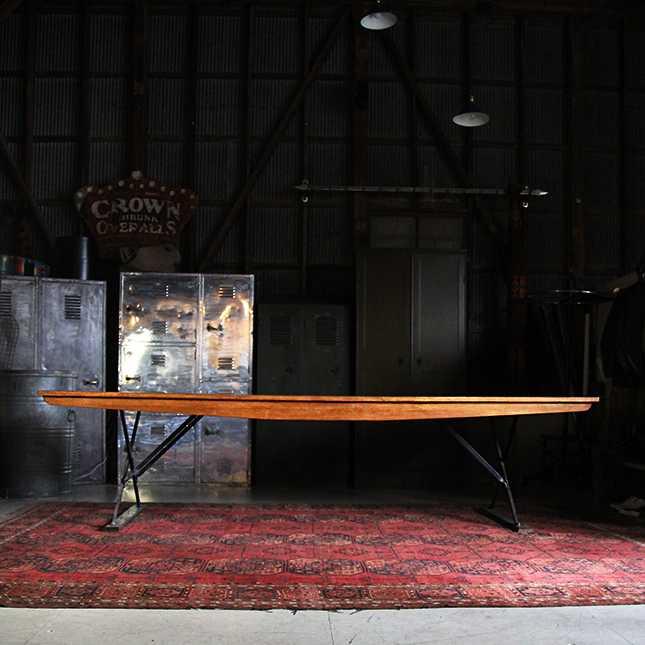 1950年代 US PROPERTY 木製 テーブル MADE BY MIFFILNBURG BODY WORKS【中古】【アメリカンアンティーク】ロング 長机 机 アメリカ 軍物 ミリタリー インテリア ヴィンテージ 50s 送料別