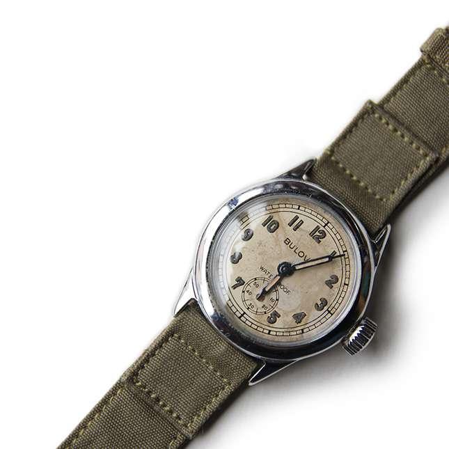 【送料無料】WW2 BULOVA ミリタリー ウォッチ【中古】アメリカ古着 メンズ古着 メンズカジュアル 雑貨 アクセサリー 時計 第二次世界大戦 軍用 腕時計 ミリタリー ブローバ