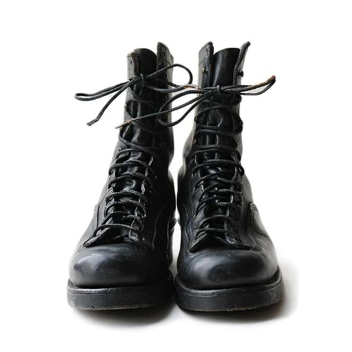【送料無料】50年代 UNKNOWN モンキー ブーツ SIZE8【中古】アメリカ古着 カジュアル メンズ ヴィンテージ 50s 靴 シューズ ブラック 黒 レザー 革 レースアップ
