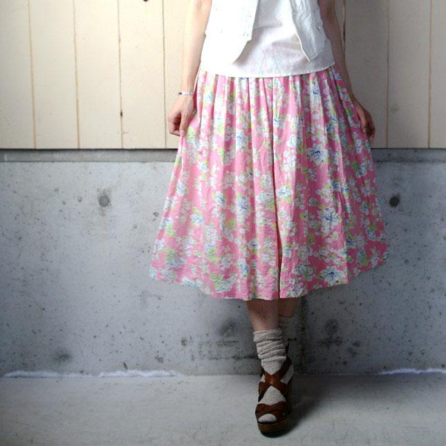 【セール】 40年代頃のヴィンテージ花柄スカート 【中古】