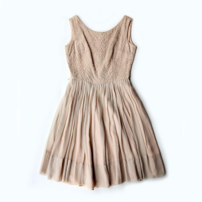 【送料無料】1950年代頃のヴィンテージドレス【中古】
