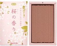 (送料無料)(まとめ買い・ケース販売)カメヤマ 花げしき 桜の香り ミニ寸(100個セット)/ カメヤマ