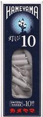 (送料無料)(まとめ買い・ケース販売)カメヤマ灯しび10 極小豆ダルマ(80個セット)/ カメヤマ