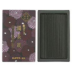 (送料無料)(まとめ買い・ケース販売)花げしき 備長炭 黒 ミニ寸(100個セット)/ カメヤマ