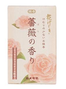 (送料無料)(まとめ買い・ケース販売)カメヤマ 花げしき 薔薇の香り ミニ寸(100個セット)/ カメヤマ