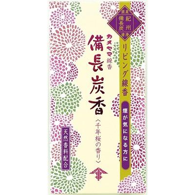 (送料無料)(まとめ買い・ケース販売)花げしき 備長炭香 千年桜の香り(80個セット)/ カメヤマ