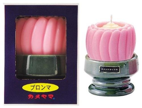 (送料無料)(まとめ買い・ケース販売)カメヤマローソク 台付ブロンマ ピンク (1箱)(36個セット)/ カメヤマ