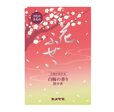 (送料無料)(まとめ買い・ケース販売)花ふぜい 白梅 煙少香 徳用大型(60個セット)/ カメヤマ
