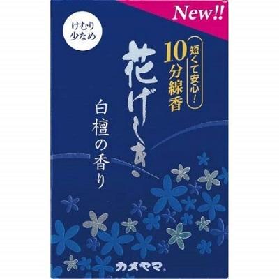 (送料無料)(まとめ買い・ケース販売)花げしき 白檀の香り 10分 ミニ寸(100個セット)/ カメヤマ