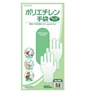 (送料無料)(まとめ買い・ケース販売)ポリエチレン手袋 100枚入 Mサイズ(40個セット)/ 東和コーポレーション
