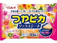 (送料無料)(まとめ買い・ケース販売)つやピカワックスシート フルーティフローラルの香り 10枚(48個セット)/ リンレイ
