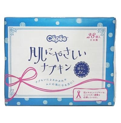 (送料無料)(まとめ買い・ケース販売)セペ 肌にやさしいナプキン(28個入)(40個セット)/ コットンラボ