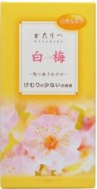 (送料無料)(まとめ買い・ケース販売)日本香堂 かたりべ 白梅(60個セット)/ 日本香堂