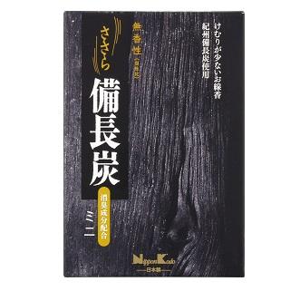 (送料無料)(まとめ買い・ケース販売)ささら備長炭 無香性 ミニ(80個セット)/ 日本香堂