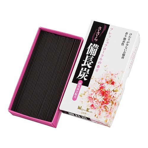(送料無料)(まとめ買い・ケース販売)ささら 備長炭 フレッシュフローラル バラ詰(100g)(60個セット)/ 日本香堂