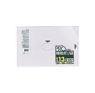 (送料無料)(まとめ買い・ケース販売)サニパック スタンダードPRO 規格ポリ袋(NO13)13号(100枚入)(30個セット)/ サニパック