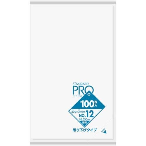 (送料無料)(まとめ買い・ケース販売)規格袋 ひも付き吊り下げ12号 透明 L12H(100枚入)(30個セット)/ サニパック