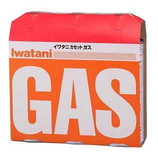(ケース販売・送料無料)iwatani カセットガス オレンジ 3本組 CB-250-OR(16台セット)/ イワタニ