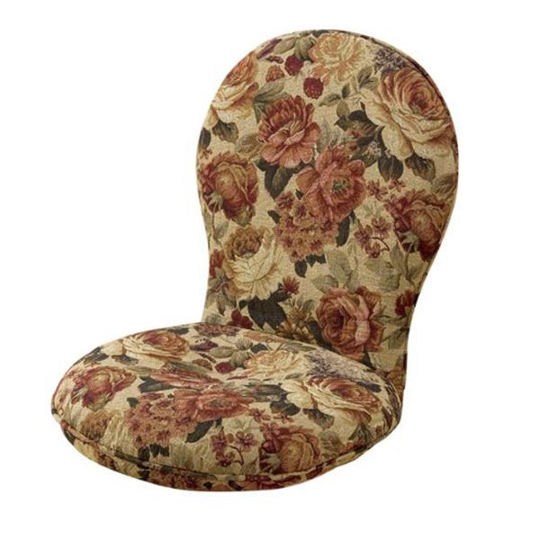 円満座椅子 ブラウン/ブルー SP-404 フロアチェア 円満座いす ハイバックタイプの座椅子 低反発ウレタンの円座クッション使用 円満座イス も