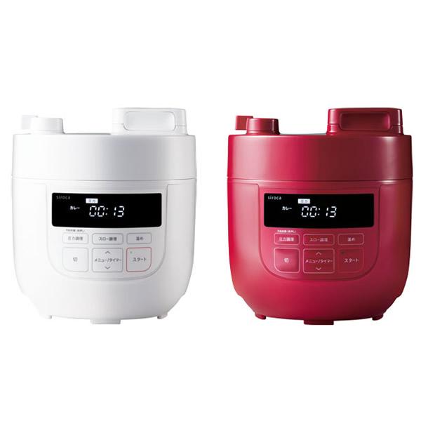 siroca シロカ 電気圧力鍋 SP-D131 レシピ本付き 1台6役 圧力調理 無水調理 蒸し調理 炊飯 SP-D131-R SP-D131-W 電気圧力なべ シロカ圧力鍋 スロークッカー SP-D121 SPD131 SPC-101 の姉妹品です