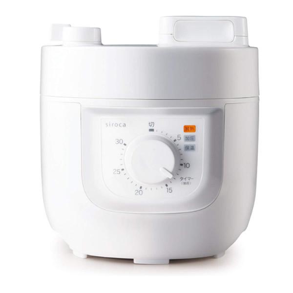 ★最大43倍+クーポン★ siroca シロカ 電気圧力鍋 SP-A111(W) レシピ本付き 1台4役 圧力調理 無水調理 蒸し調理 炊飯 スロー調理機 かんたん電気圧力なべ SPA111 SP-D121 の姉妹品です ヒルナンデス でも話題