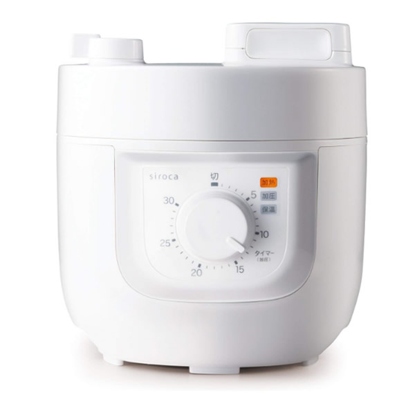 siroca シロカ 電気圧力鍋 SP-A111(W) レシピ本付き 1台4役 圧力調理 無水調理 蒸し調理 炊飯 スロー調理機 かんたん電気圧力なべ SPA111 SP-D121 の姉妹品です ヒルナンデス でも話題