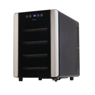 siroca シロカ 12本収納ワインセラー SW-P121(K) ワイン保冷庫 ペルチェ式冷却方式 ワインクーラー ワイン冷蔵庫 ワイン収納庫 ワイン保存庫 ワイン保管庫 SW-P121-K