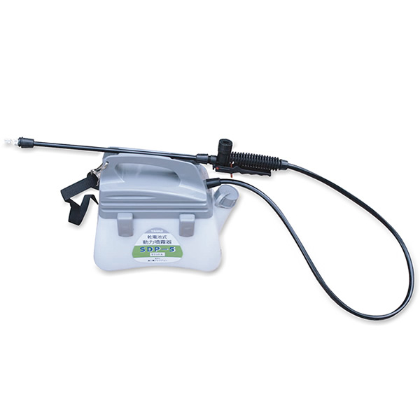 乾電池式動力噴霧器 SDP-5 3特典【送料無料+お米+ポイント】 電池式 噴霧機 ダイヤフラポンプ式 タンク容量5L 乾電池式動力噴霧機 SDP5 乾電池式噴霧器 動噴 あ