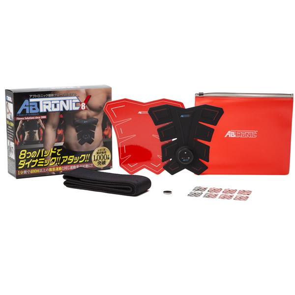 アブトロニックX8 グローバルモデル EMS器機 ABTRONICX8 腹筋運動 8パッドシステム 筋収縮運動 ジェルシート8枚付き アブトロニクスX8