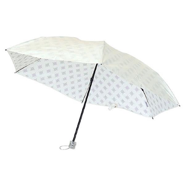 UVION ユビオン プレミアムホワイト50ミニカーボン ニューアラベスク 晴雨兼用 折り畳み傘 日本製 日傘 UVカット率99% 軽量 折りたたみ傘 3945 わ