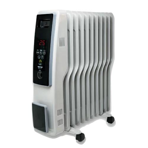 TEKNOS社製 デジタル オイルヒーター TOH-D1101 大型11枚S字フィン搭載 電気オイルヒーター 電気暖房機 オイルラジエターヒーター TOH-1200 の新型 オイルストーブ