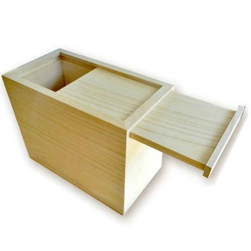 桐の米びつ 10kg用 スライド式 日本製 桐米びつ 桐製米びつ 3957 株式会社留河 米櫃 お米 ライスストッカー も