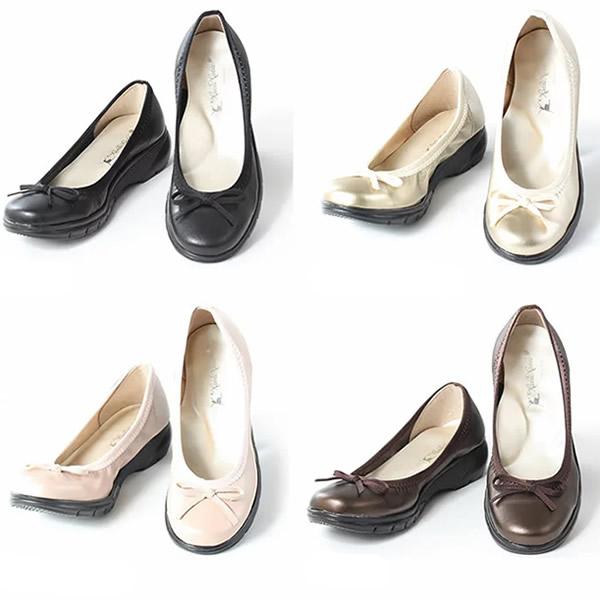 《500円クーポン配布》 レディス パンプス レディースシューズ 勅使河原郁恵プロデュース 軽い靴 20代 30代 40代 50代 靴 おしゃれ 履きやすい 歩きやすい 通販 通勤 仕事 オフィス かわいい 可愛い ブラック ゴールド ピンク ブラウン リボンパンプス め
