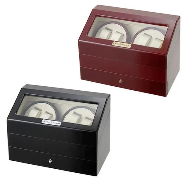 ■送料無料■ ワインダー DX4連 ワインデイングマシン SR074 世界の マブチモーター 信頼の ワインディングマシーン 腕時計など自動巻き時計にお勧め 腕時計収納ケース 時計ケース ワインディングマシン ワインダー KA074後継 な