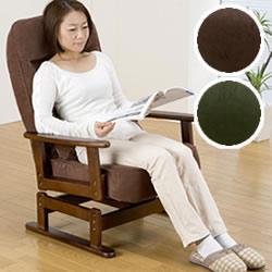折りたたみ式 木肘回転高座椅子 SP-823R 安心のメーカー直送便 高座椅子 折り畳み リクライニング 折り畳み式木肘回転高座椅子 SP823R ウレタン 枕付 肘掛 ひじかけ 回転する 完成品でお届け も