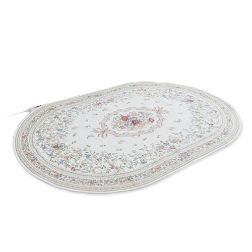 《200円クーポン配布》 ホットカーペット 1畳 カーペット おしゃれ 洗える ラグ ホットカーペットカバー 電気カーペット 日本製ホットカーペット 可愛い OLC-D170C 楕円形 絨毯 1畳用 へ