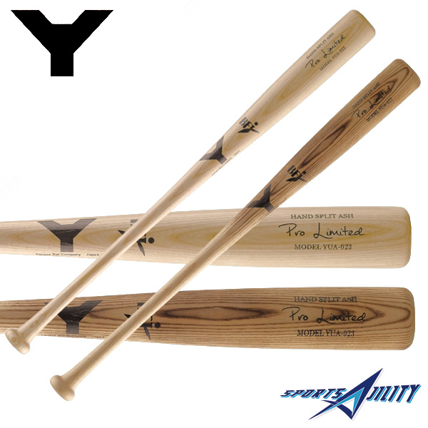 野球 硬式 木製バット 【ヤナセ/Yanase】 Yバット セミトップバランス ホワイトアッシュ 長さ84.5cm 重さ約900g 焼きクリアー/ナチュラル (YUA-023)
