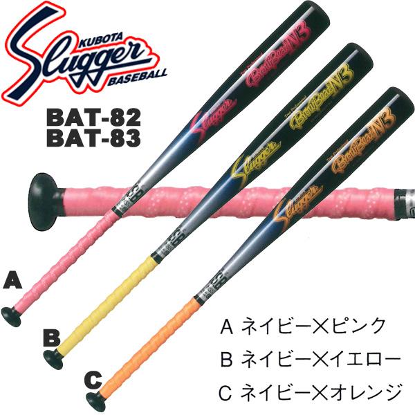 野球 軟式 金属 バット 【久保田スラッガー】 ミドルバランス (BAT83A/B/C)