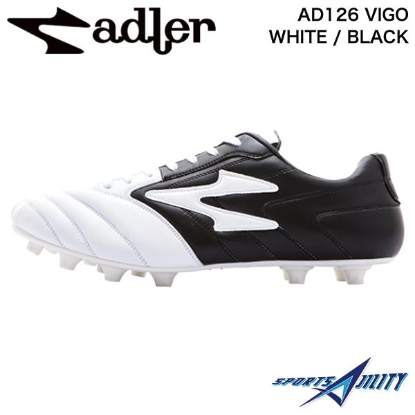 アドラー adler サッカー スパイク シューズ AD126 VIGO WHITE / BLACK ビーゴ ホワイト×ブラック