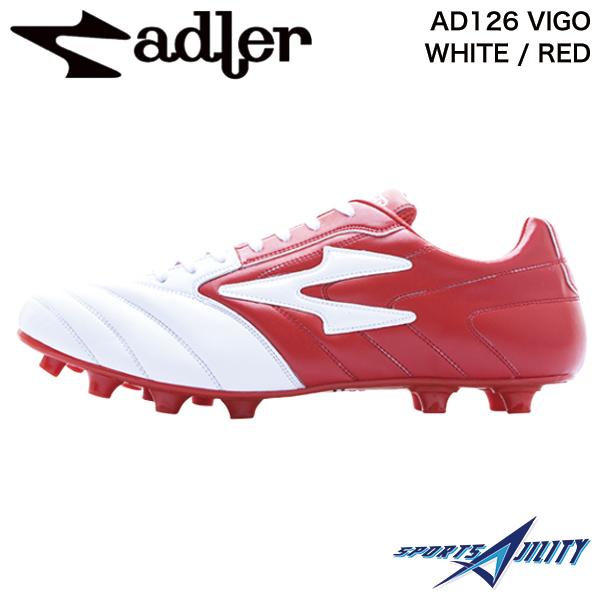 アドラー adler サッカー スパイク シューズ AD126 VIGO WHITE / RED ビーゴ ホワイト×レッド