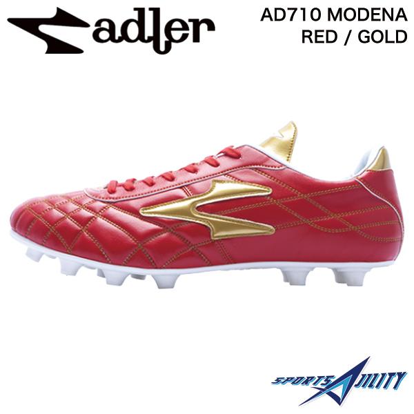 アドラー adler サッカー スパイク シューズ AD710 MODENA RED / GOLD モデナMS レッド×ゴールド