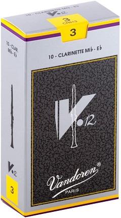 表現力豊かな音色で評判のV12シリーズ VANDOREN 卓抜 バンドレン バンドーレン 人気ショップが最安値挑戦 銀箱 V12 B♭クラリネットリード