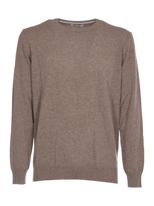 カングラ セーター カーディガン メンズ【Kangra Brown Cachmere Sweater】CASTORO