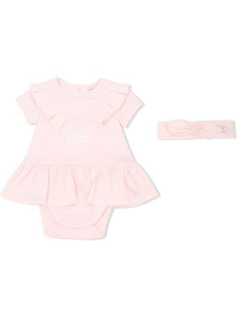 ジバンシィ コンビドレス ベビーウェア ベビー【Givenchy Kids ruffle-trim shorties】Pink