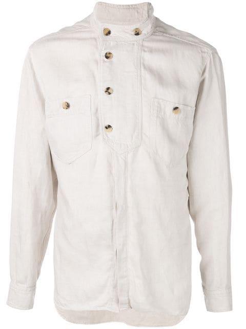 イザベルマラン シャツ ジャケット メンズ【Isabel Marant button collar shirt】White