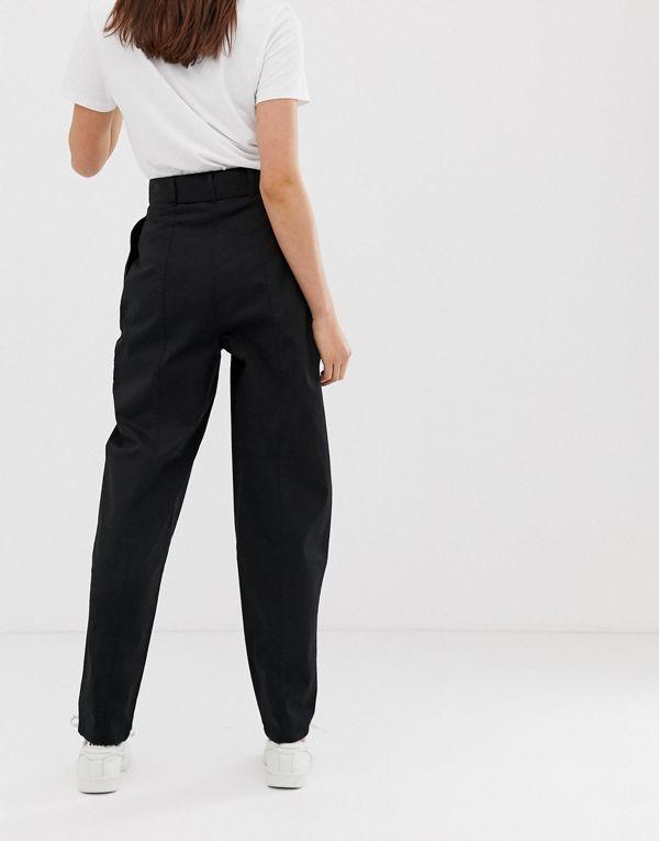 エイソス ペグズボン パンツ ボトムス レディース ASOS DESIGN Tall belted peg trousers with demi bucrBedCxo