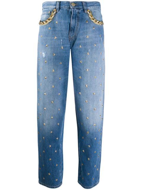 ピンコ ボーイフレンドデニム パンツ ジーンズ レディース Pinko star-studded mom jeans Blue 販促ツールに♪お見舞 米寿祝 結婚式引出物 成人の日 迎春 クリスマス 特価 限定アイテム ハロウィン
