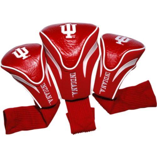 ゴルフ ヘッドカバー レディース【Team Golf USA Indiana University Hoosiers 3 Pack Contour Headcover】Team